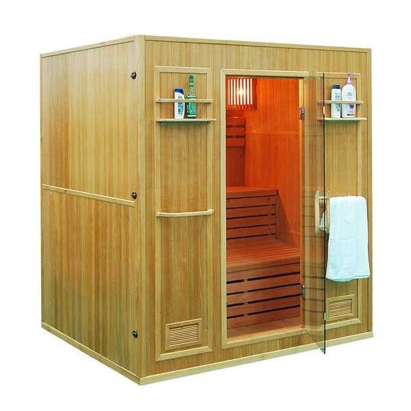 Canadian Cedar 4 Person Steam Sauna by ALEKO
