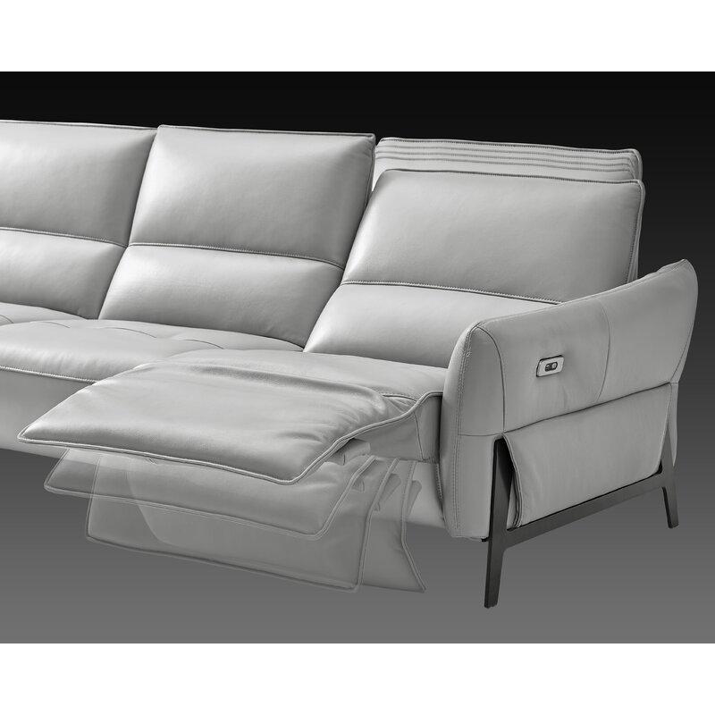 Kash Leather Reclining Sofa