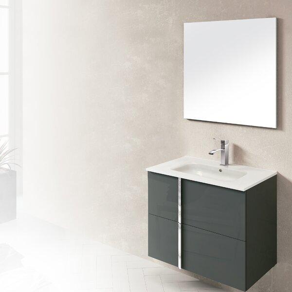 Onix 32 Single Bathroom Vanity Set with Mirror by Dawn USA