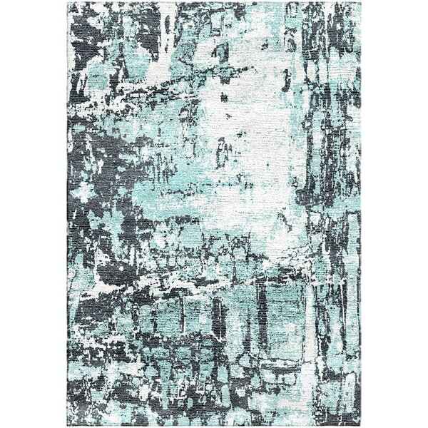 Ashford Handloom Blue Area Rug by Ivy Bronx