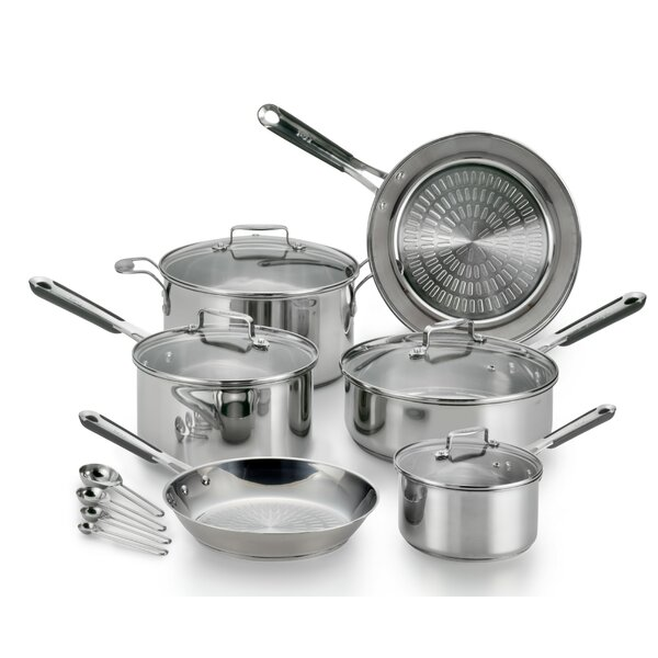 PerformaPro 14-Piece Stainless Steel Cookware Set by T-fal