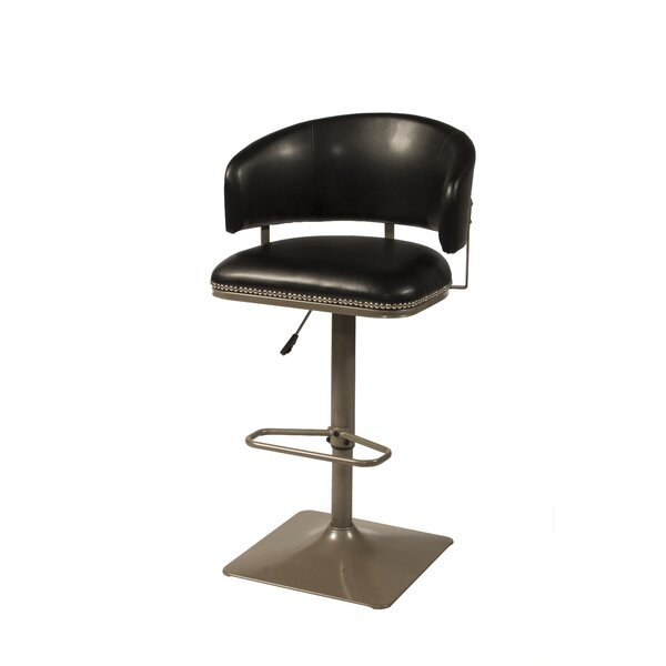 Glick Pelfrey Adjustable Height Swivel Bar Stool by Wrought Studio