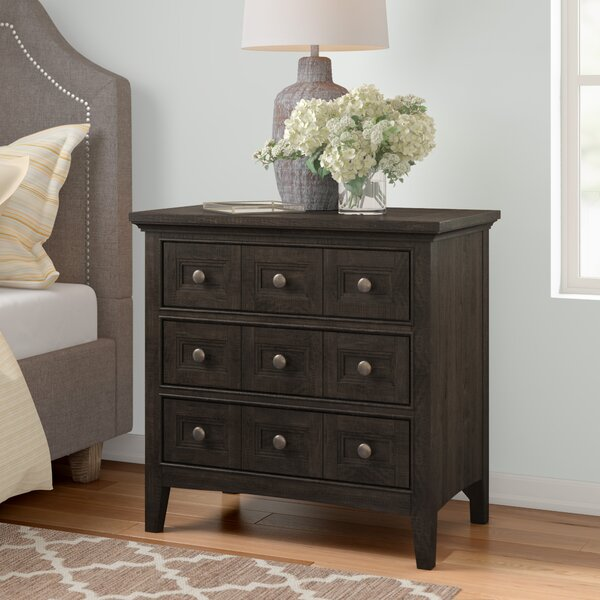 Ringgold 3 Drawer Nightstand by Three Posts