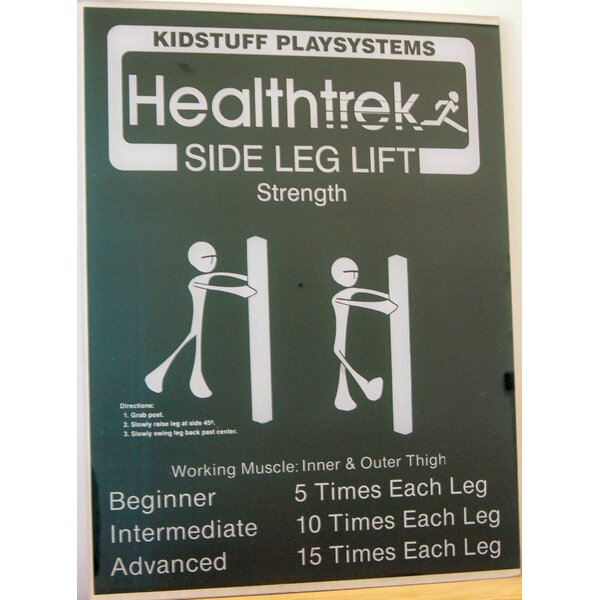 Side Leg Lift Post and Sign by Kidstuff Playsystems, Inc.