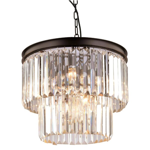 Fynn 9 - Light Unique Tiered Chandelier by House of Hampton House of Hampton