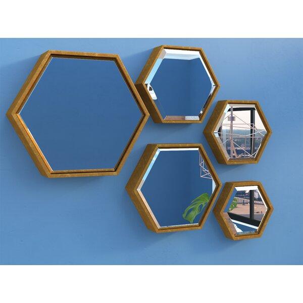5 Piece Hexagonal Mirror Set by Brayden Studio