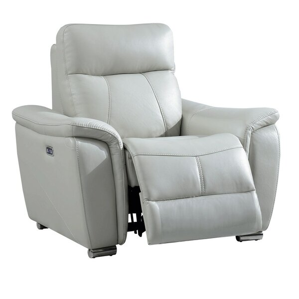 Meister Electric Leather Recliner by Latitude Run
