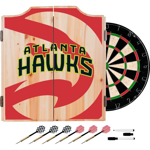 NBA Fade Dartboard and Cabinet Set by Trademark Gl