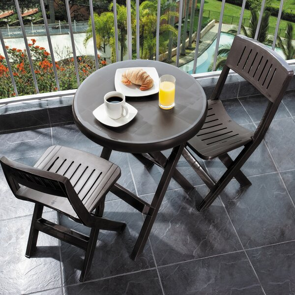 Wantaugh Outdoor 3 Piece Bistro Set by Symple Stuff