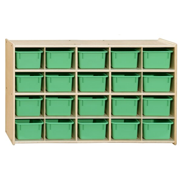 Clarendon 20 Compartment Cubby with Trays by Symple Stuff