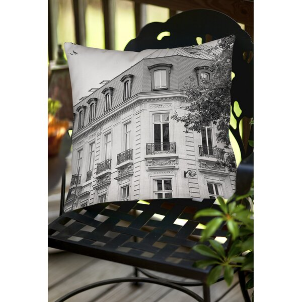 A Travers Paris II Indoor / Outdoor Throw Pillow by Manual Woodworkers & Weavers