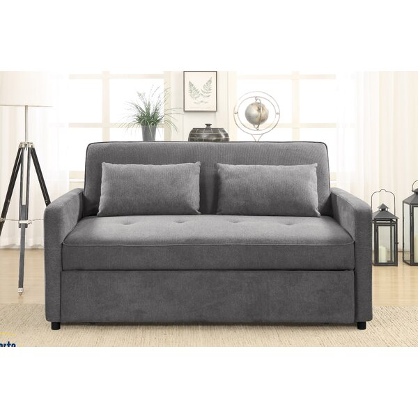 Last Trendy Faye Queen Tufted Back Convertible Sofa by Serta by Serta