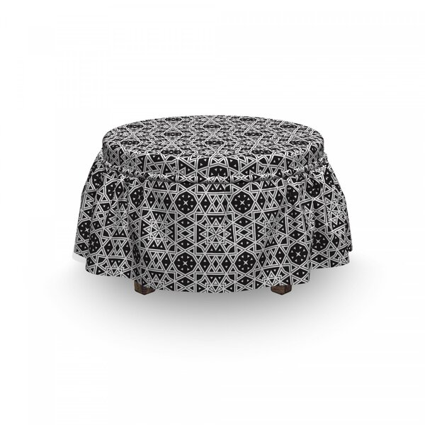 Medieval Royal Tile Ottoman Slipcover (Set Of 2) By East Urban Home