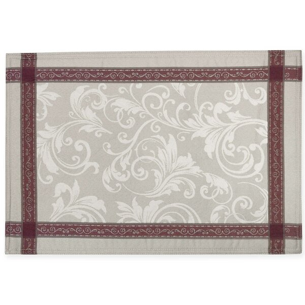 Emerson Elegant Scroll Woven Jacquard Placemat (Set of 4) by HomeCrate