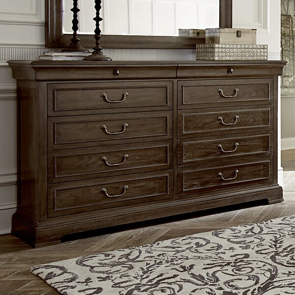 Pond Brook 10 Drawer Double Dresser by Darby Home Co Darby Home Co