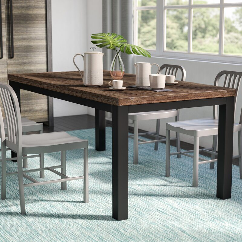 Wayfair Dining Room Chairs Curved Dining Bench Kitchen: Mercury Row Leo Dining Table & Reviews