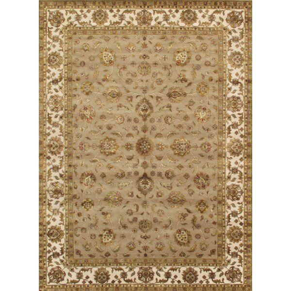 Agra Hand-Knotted Brown Area Rug by Pasargad