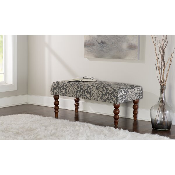Lolita Print Upholstered Bench by Bungalow Rose Bungalow Rose