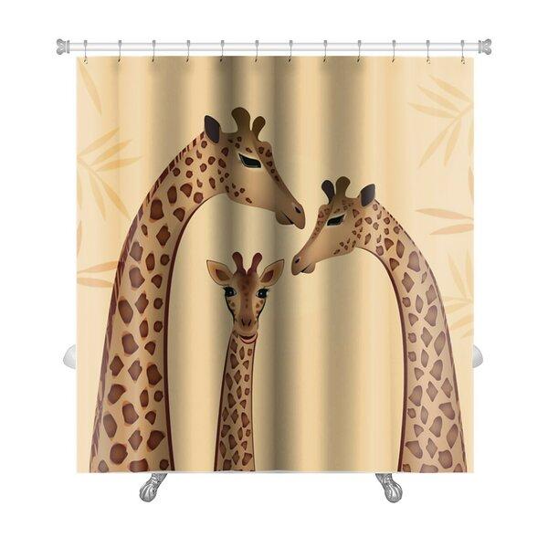 Animals Giraffes Family Premium Shower Curtain by Gear New