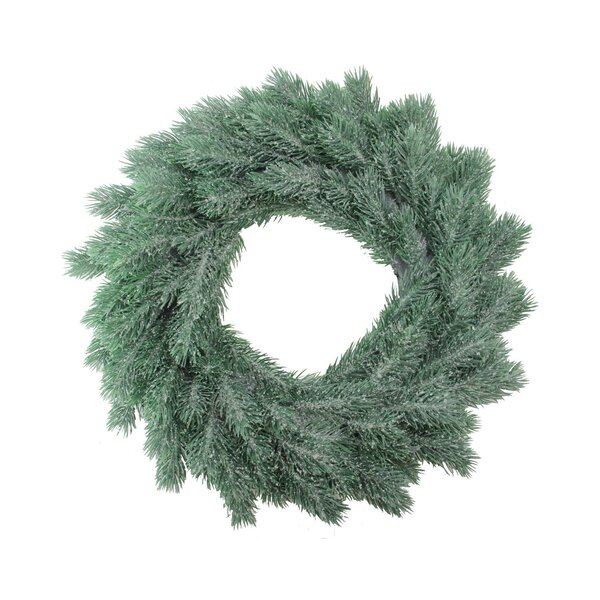 Decoratively Frosted Artificial Christmas 16 Pine Wreath by The Holiday Aisle
