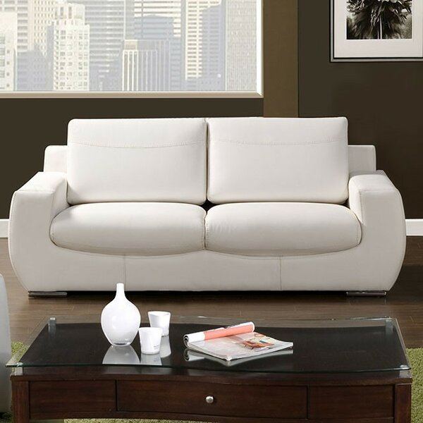 Zariah Leather Sofa by Brayden Studio