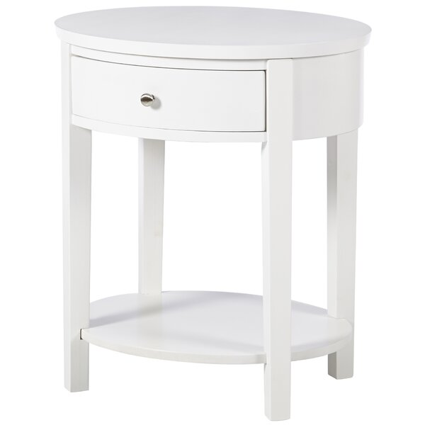 Canterbury End Table With Storage By Three Posts.