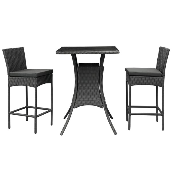 Bevanda 3 Piece Bar Height Dining Set by Modway