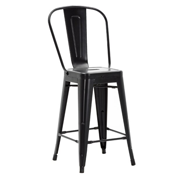 Wyatt Stackable Metal Counter 24-inch Patio Bar Stool By Williston Forge