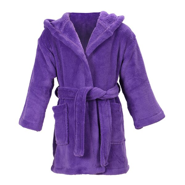 Gibson Velvet Cotton Blend Plush Bathrobe by Zoomi