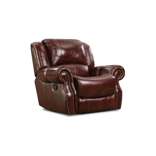 Hein Leather Recliner by Alcott Hill