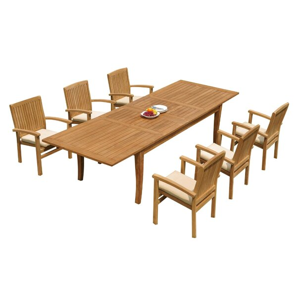 Masson 7 Piece Teak Dining Set by Rosecliff Heights