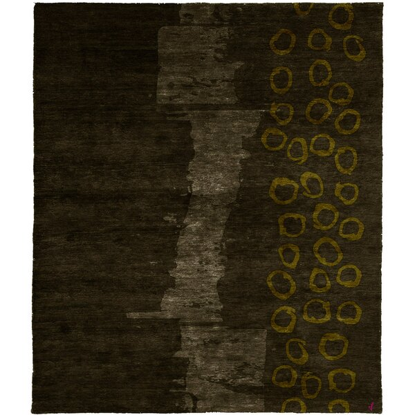 One-of-a-Kind Abasi Hand-Knotted Traditional Style Brown 6' x 9' Wool Area Rug
