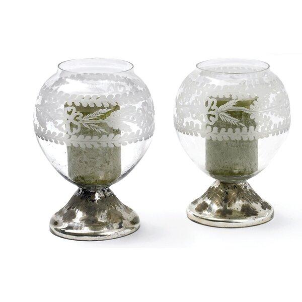 Crystal Ball Glass Hurricane by One Allium Way