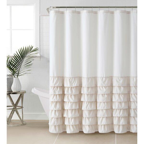 Standifer Ruffle Shower Curtain By Lark Manor.