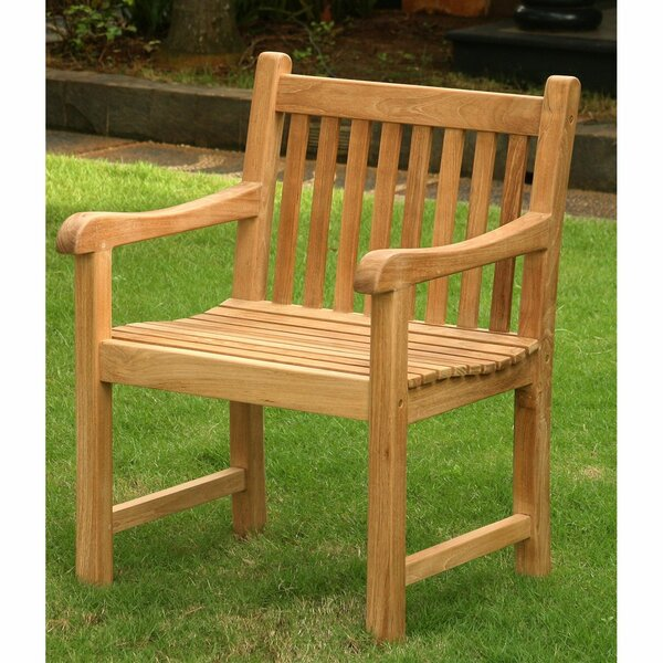 Emmitt Teak Patio Dining Chair by Highland Dunes