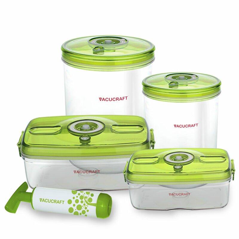 Versatile Vacuum 5 Container Food Storage Set