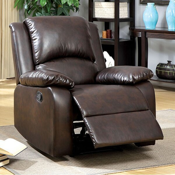 Yamanda Leather Manual Recliner [Red Barrel Studio]