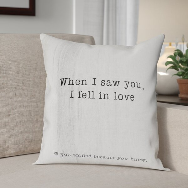 Beaumont When I Saw You Throw Pillow by Winston Porter