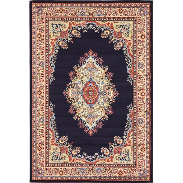 Astral Navy Blue Area Rug by World Menagerie