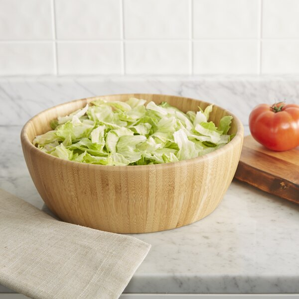 Wayfair Basics Round Bamboo Salad Bowl by Wayfair