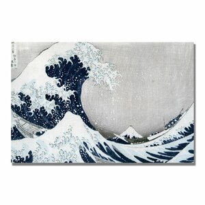 The Great Wave II by Katsushika Hokusai Painting Print on Wrapped Canvas by Trademark Fine Art