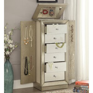 talor jewelry armoire with mirror