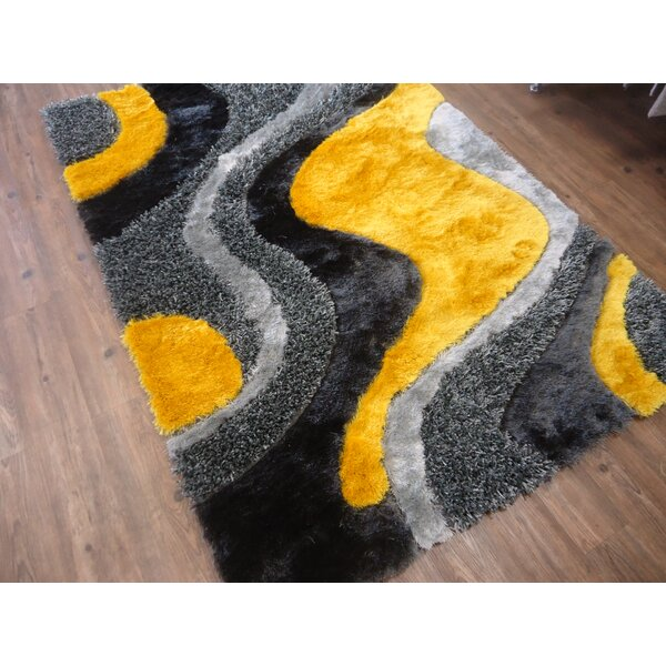 Hand-Tufted Gray/Yellow Area Rug by Rug Factory Plus
