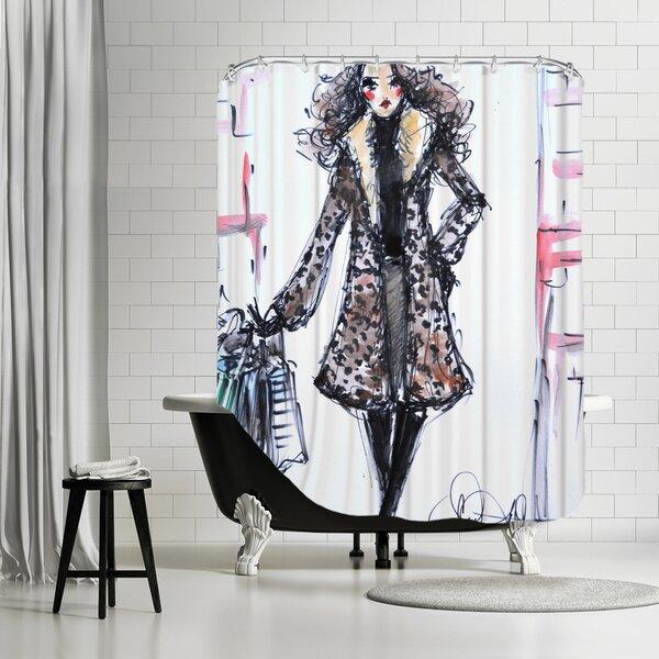 Paris TheFix Shower Curtain by House of Hampton