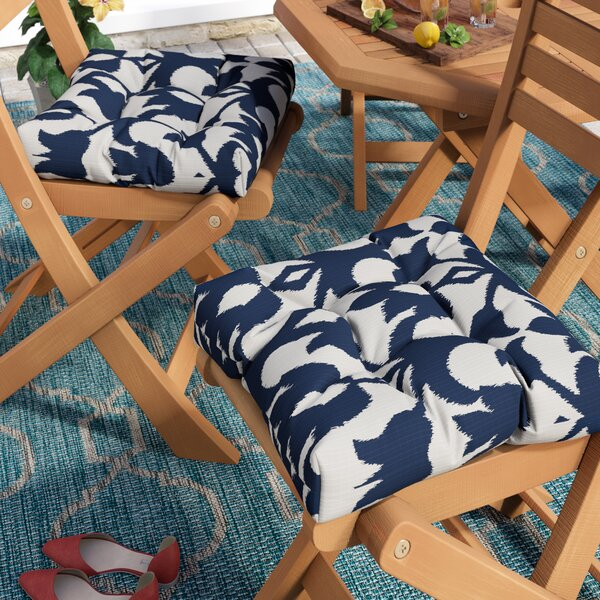 Edmond Indoor/Outdoor Dining Chair Cushion (Set of 2)