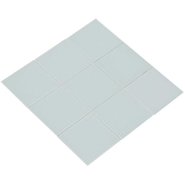 Shilla 12 x 12 Glass Mosaic Tile in White by Mirrella