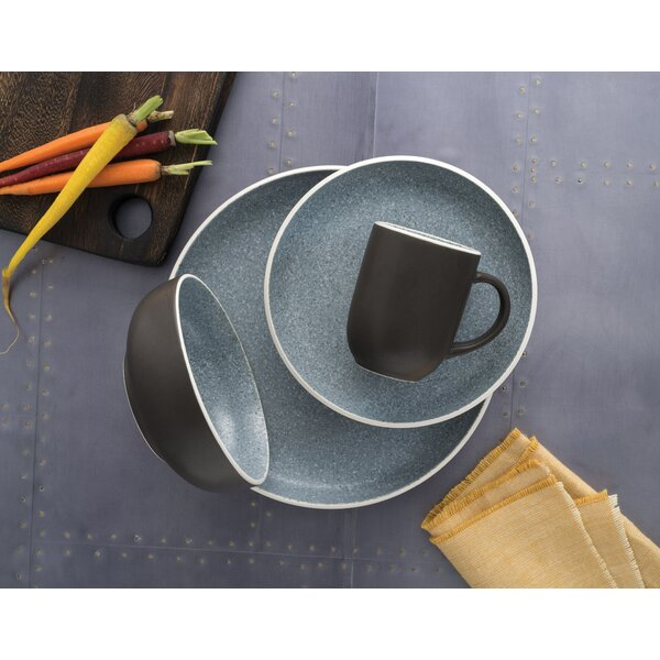 Tailor Granite 16 Piece Dinnerware Set service for 4 (Set of 4) by Sango
