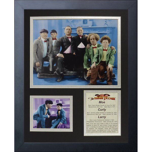 The Three Stooges Framed Photographic Print by Legends Never Die