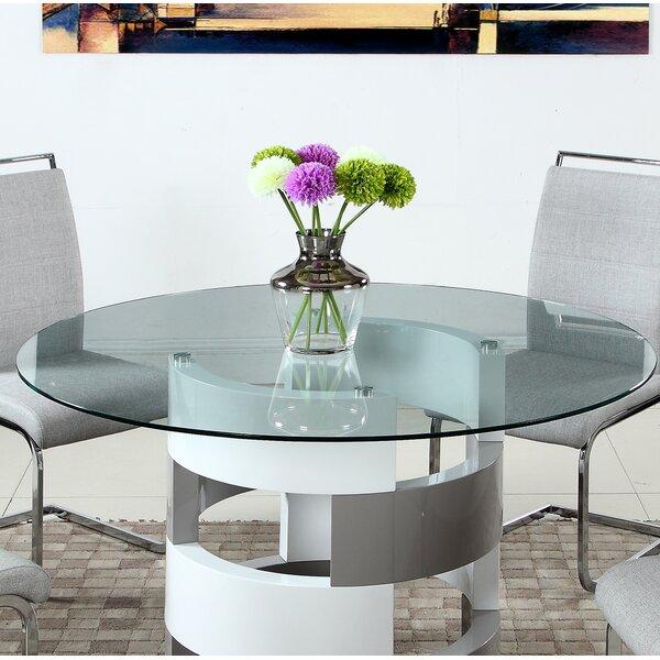 Manzi Pedestal Coffee Table By Orren Ellis