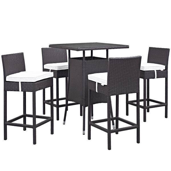 Ryele 5 Piece Frame Bar Height Dining Set by Latitude Run